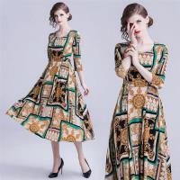 【M2M】甜美清爽大方大裙襬印花洋裝S-2XL