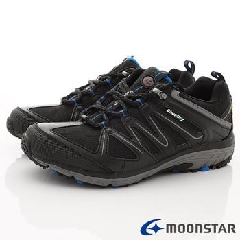 日本Moonstar戶外健走鞋-4E寬楦防水戶外鞋款-SUSDM016黑(男段)