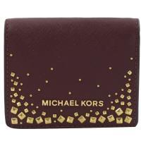 MICHAEL KORS GIFTABLES 鉚釘扣式零錢短夾.葡萄紅