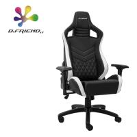 【B.Friend】GC05 流線型專業電競椅/賽車椅 含人體工學靠背(黑白)