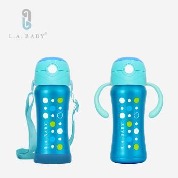 【L.A. Baby】316超輕量保溫保冷兒童學習水壺組 270ml (6色)