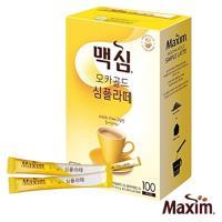 MAXIM麥心 韓國黃金摩卡無糖拿鐵 (10.5g×100入/盒) Maxim Mocha Gold Simple Latte