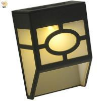 月陽歐式太陽能自動光控2LED璧燈台階燈庭園燈 EU118