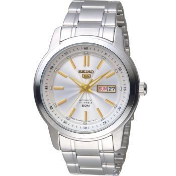 SEIKO 精工5號 21石盾牌機械腕錶(SNKM85J1)44mm 7S26-03Z0G