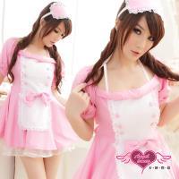 天使霓裳 角色扮演 甜蜜呵護 女僕裝派對表演角色服(粉F) AF12011