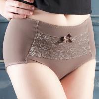 【EASY SHOP】微調情人 高腰三角束腹修飾褲(可可棕)