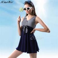 沙麗品牌 時尚流行兩件式連身裙泳裝 NO.H19116