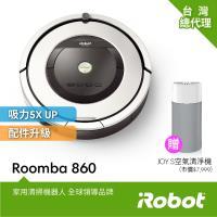 【買就送冰沙隨身果汁機雙杯組】美國iRobot Roomba 860 掃地機器人 總代理保固1+1年 (限時買就送Blueair JOY S空氣清淨機 市價7999元)