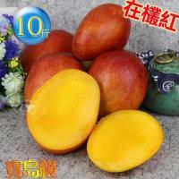 預購-風之果 枋山寶島級香甜40年老欉愛文芒果禮盒10台斤(18-19顆)330g-300g