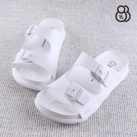 【88%】涼拖鞋-MIT台灣製 扣環造型一字拖鞋 舒適好穿 防水PU材質