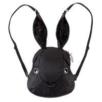 【Morn Creations】正版可愛兔子後背包-黑色(M)