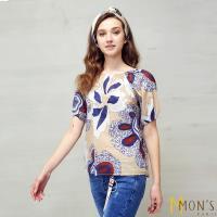 MONS歐洲風格純棉印花短袖上衣