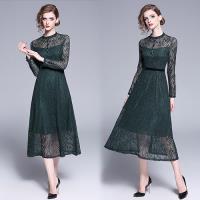 歐風KEITH-Will (預購) OL風閃爍蕾絲立領洋裝