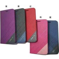 for  SAMSUNG Galaxy Core Prime ( G360 )小奇機 4.5吋 斜紋款( 隱藏磁扣 ) - 側翻皮套