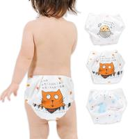 學習褲 6層紗嬰兒尿布褲 可調式隔尿褲-3件入