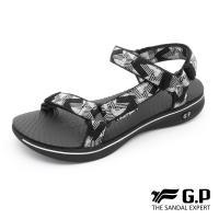 G.P 極輕量織帶旅行涼鞋G9278W-白黑色(SIZE:36-39 共三色)