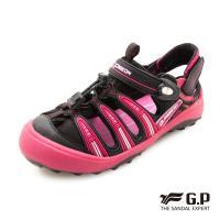 G.P 兒童越野護趾鞋G9224B-黑桃色(SIZE:31-35 共二色)