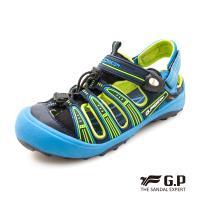 G.P 兒童越野護趾鞋G9224B-藍色(SIZE:31-35 共二色)