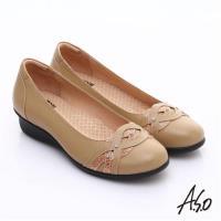 A.S.O 舒適通勤 水鑽奢華通勤鞋- 卡其