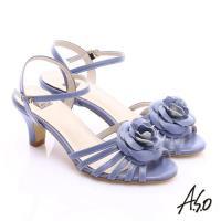 A.S.O 氣質名媛 立體山茶花細條帶涼鞋- 紫