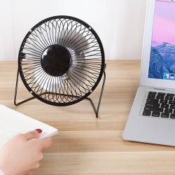 USB復古質感鋁製小風扇/桌扇(1入)
