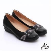 A.S.O 舒適通勤 水鑽奢華通勤鞋- 黑