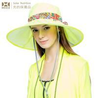 【HOII后益】HOSEA花漾法式優雅圓筒帽★黃光(UPF50+抗UV防曬涼感先進光學機能布)