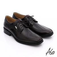 A.S.O 菁英通勤 真皮鏡面綁帶奈米紳士鞋- 茶