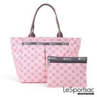 LeSportsac - Standard小手提水餃包(經典格紋/粉)