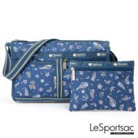 LeSportsac - Standard雙口袋斜背包-附化妝包 (慶典/藍)