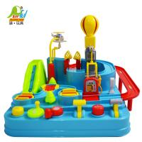 Playful Toys 頑玩具 音樂汽車闖關大冒險9998(汽車闖關遊戲 軌道汽車 警車 消防車 救護車 情境模擬)