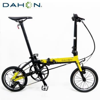 DAHON大行 K3 14吋3速 鋁合金輕量僅8.1公斤折疊單車/自行車-檸檬黃