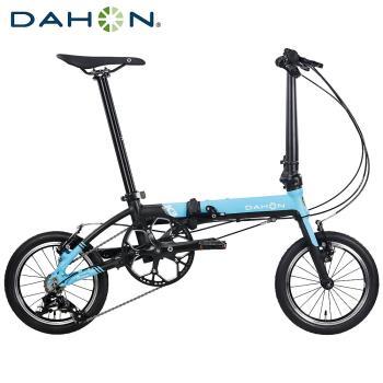DAHON大行 K3 14吋3速 鋁合金輕量僅8.1公斤折疊單車/自行車-天藍色
