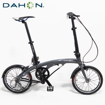 DAHON大行 EEZZ D3 16吋3速鋁合金輕量化9.7kg縱向快速折疊單車/自行車-霧灰