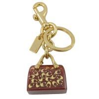 COACH 41412 限量 金屬C LOGO手提包造型鑰匙圈.紅