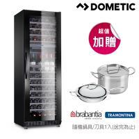 ★贈io壁爐式陶瓷電暖器1入★DOMETIC 單門雙溫專業酒櫃 S117FG