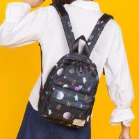 J II 後背包-塗鴉原創防潑水後背包-小款(宇宙星球)-6275-2