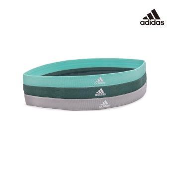 Adidas 止滑運動髮帶組(淺灰/薄荷綠/森林綠)ADYG-30203