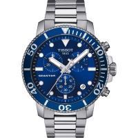 TISSOT 天梭 Seastar 1000 海洋之星300米潛水計時錶-藍x銀/45mm T1204171104100