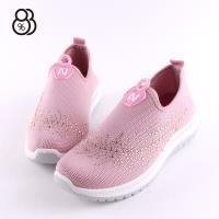 【88%】休閒鞋-水鑽造型編織鞋面 舒適乳膠鞋墊 套腳懶人鞋 休閒鞋