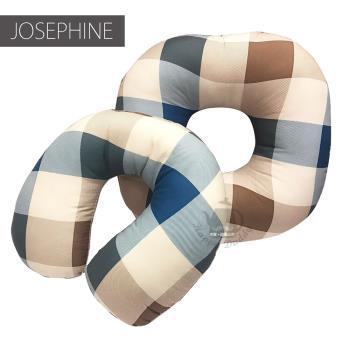 JOSEPHINE約瑟芬 格子坊多功能坐墊+U型頸枕辦公室靠枕SB-004T