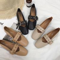 Alice (預購) 舞漾花蝶皮带扣淺口平底鞋