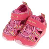 《布布童鞋》Moonstar日本粉色網布透氣寶寶機能運動鞋(13~14.5公分) [ I9C764G ]