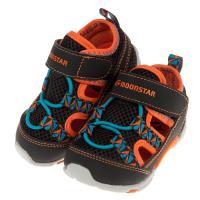 《布布童鞋》Moonstar日本黑色網布透氣寶寶機能運動鞋(13~14.5公分) [ I9E766D ]