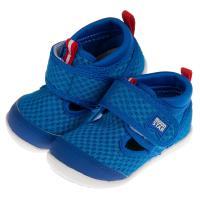 《布布童鞋》Moonstar日本Hi系列藍色透氣寶寶機能學步鞋(12.5~14.5公分) [ I9E999B ]