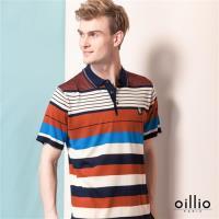 oillio歐洲貴族 質感柔順天絲棉線衫 短袖POLO領款式 紅色
