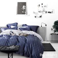 BEDDING-100%天絲萊賽爾-特大6x7薄床包5x6.2尺涼被四件組-一粒落塵-藍