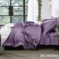 BEDDING-100%天絲萊賽爾-特大6x7薄床包5x6.2尺涼被四件組-莫娜-紫