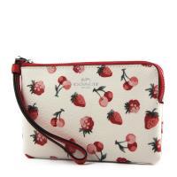 COACH 水果圖案防刮皮革手拿包-草莓/櫻桃