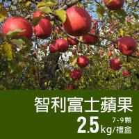 築地一番鮮-特大智利富士蘋果2盒(2.5kg/禮盒/7-9顆)